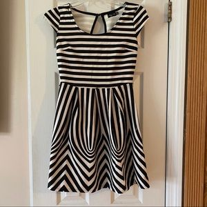 Ruby Rox Black and White Striped Dress. Size S